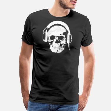 Skull Headphone Headphones Skull Killer - Men's Premium T-Shirt