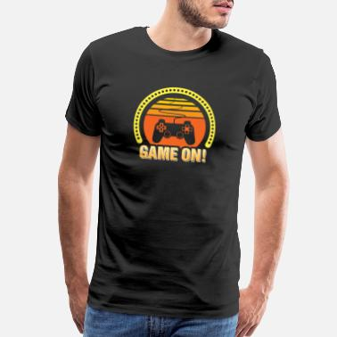 Playstation Controller Video Game On | Cool Gamepad Love | Controller Ar - Men's Premium T-Shirt