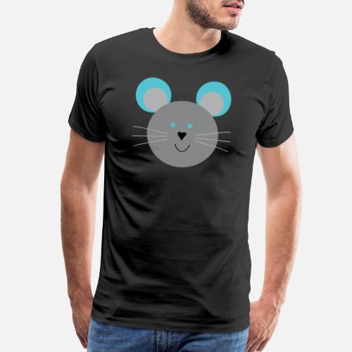 d569f35db Cute mouse head for sweet little mice Men's Premium T-Shirt ...