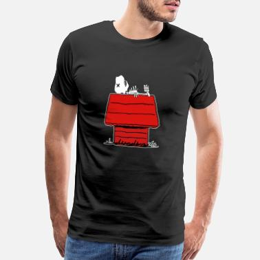 Snoopy Dog Bones on a Dog House - Men's Premium T-Shirt