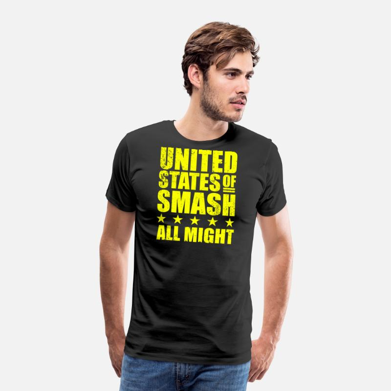 All Might T-Shirts - BNHA United States of Smash All Might Plus Ultra - Men's Premium T-Shirt black