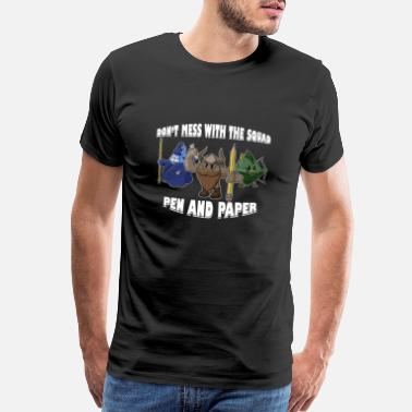 Tabletop Gamer Pen and Paper DnD Group Roleplay RPG Gift - Men's Premium T-Shirt