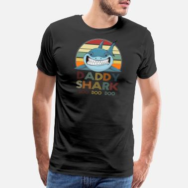 Daddy Retro Vintage Daddy Shark Tshirt gift for Father - Men's Premium T-Shirt