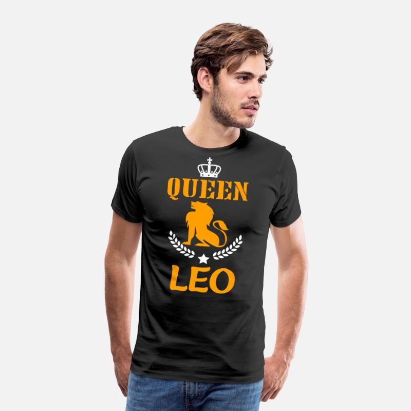 Womens Queen Leo Zodiac July August Birthday Gift Mens Premium T