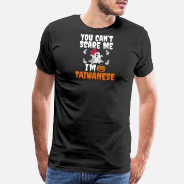 Tricks Can't scare I'm Taiwanese Halloween Taiwan - Men's Premium T-Shirt