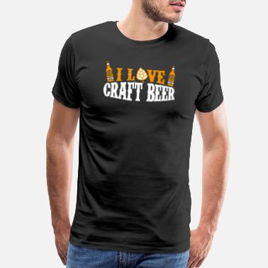 Brewsmeister I Love Craft Beer Home Brew Hoppy IPA Gift Idea - Men's Premium T-Shirt