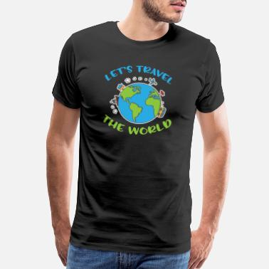 Traveler Let´s travel the world - Men's Premium T-Shirt