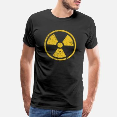 Uranium Radiation warning rusted symbol - Men's Premium T-Shirt