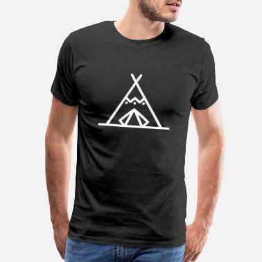 American Tradition Native American Tent - Men's Premium T-Shirt