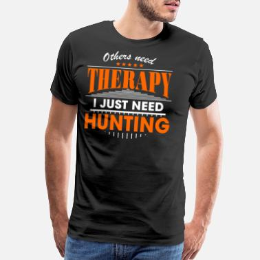 Cook hunting is my therapy - Men's Premium T-Shirt