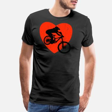 Black Metal DOWNHILL RETRO DESIGN - Men's Premium T-Shirt