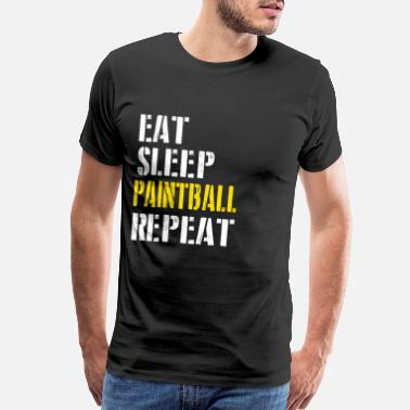 Eat Sleep Eat. Sleep. Paintball. Repeat. - Men's Premium T-Shirt