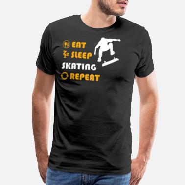 Sk8ing Skating - gift for men and women - Men's Premium T-Shirt