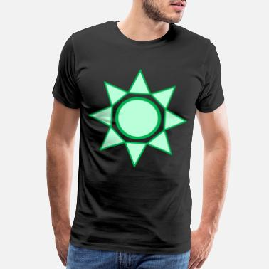 Natural Light Nature - Sun - Star - green - Men's Premium T-Shirt