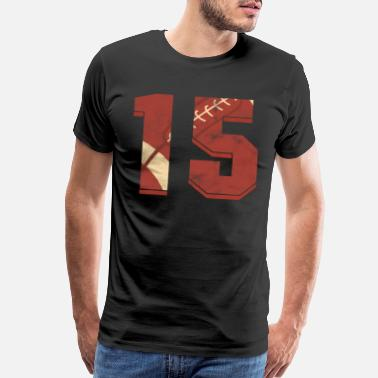 15th Birthday Rugby Football 15 th Birthday Sports Gift - Men's Premium T-Shirt