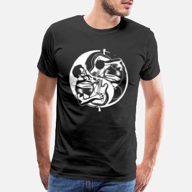 Daoism Yin Yang Guitar Player Guitarrist Eguitar - Men's Premium T-Shirt