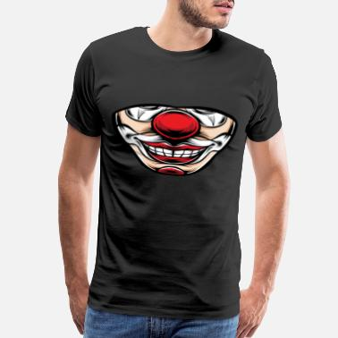 Hazard Clown Face Mouth, - Men's Premium T-Shirt
