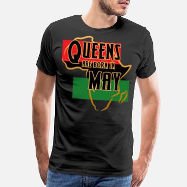 Curly Girl Birthday Queens Are Born In May Black Women - Men's Premium T-Shirt