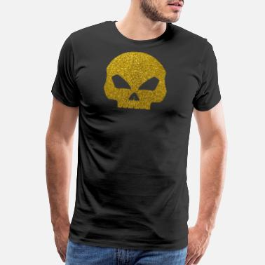 Gold Skull Golden Skull - Gold Glitter Death Bones Pirate - Men's Premium T-Shirt