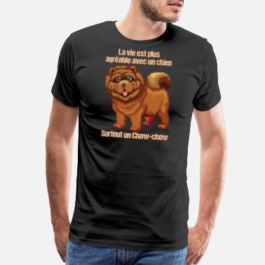 Chow Chow Dog Life is better with a chow-chow - Men's Premium T-Shirt