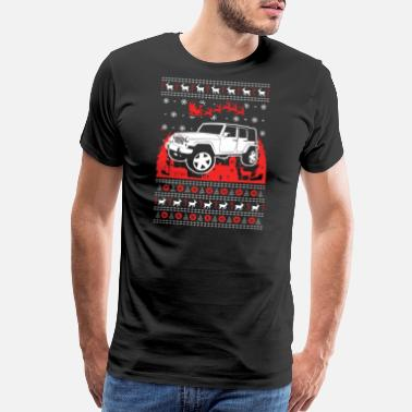 Suv Jeep Ugly Christmas Sweater - Men's Premium T-Shirt