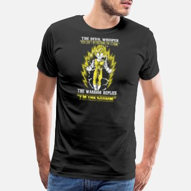 Dragon Ball Z Abridged Vegeta - The warrior replies 'I'm the storm' - Men's Premium T-Shirt