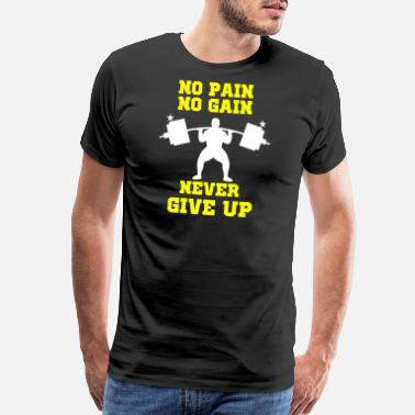a972636b Weightlifting - Personal Trainer Gym Gear No pai - Men's Premium T-Shirt