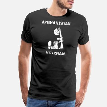 Veteran Memorial Day Afghanistan Veteran - Memorial Day- Afghanistan - Men's Premium T-Shirt
