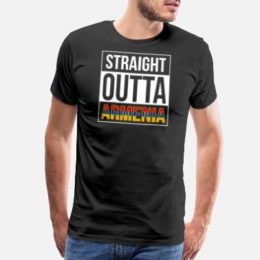 Praying Hands Rosary Armenia - Straight Outta Armenia - Men's Premium T-Shirt
