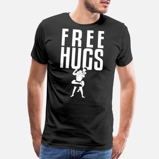 a4c28daba Bjj - Free Hugs Jiu Jitsu BJJ MMA Grappling Rear Men's Premium T ...