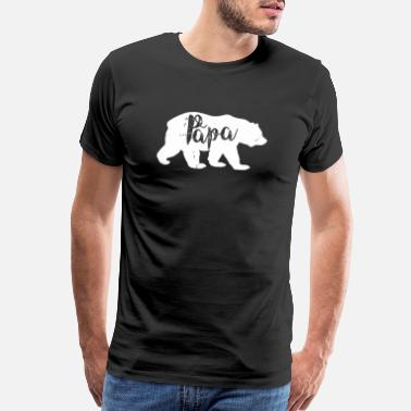 Papa Papa - Vintage Papa Bear Awesome Camping Father' - Men's Premium T-Shirt