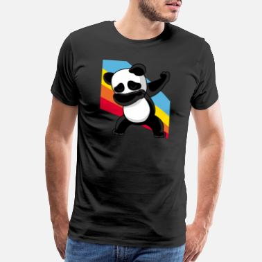 Melbourne Retro Vintage Style Pop Art Dabbing Dab Panda Bear - Men's Premium T-Shirt