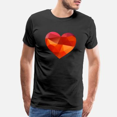 Love valentines day heart - Men's Premium T-Shirt