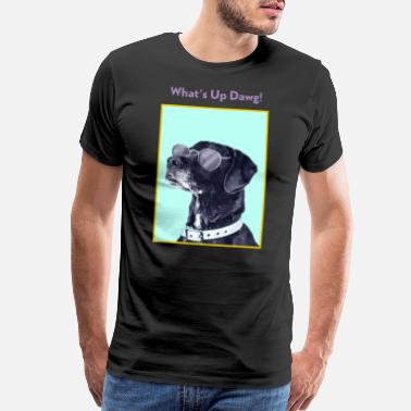 Occassionally What's up Dawg! Funny Dog Lover Graphic Shirt - Men's Premium T-Shirt