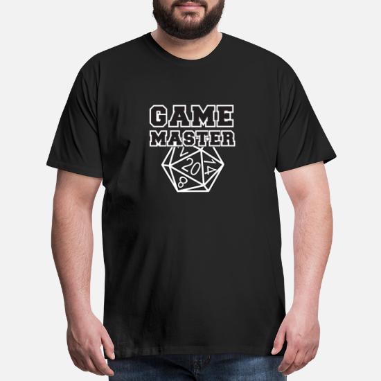 NeedLove Mens Cool Game Master Tee Black