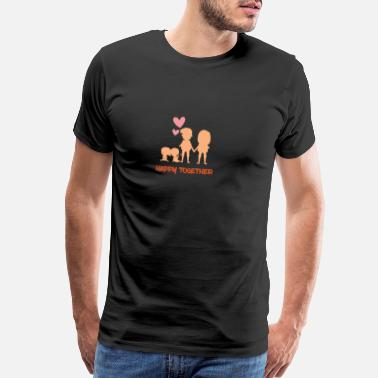 Surname Family Happy together - Men's Premium T-Shirt