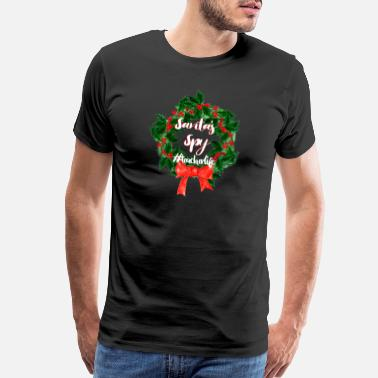 Reasonable Funny Christmas Santa's Spy #Teachalife - Men's Premium T-Shirt