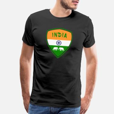 Bangladesh Flag India coat of arms with elephants / gift flag - Men's Premium T-Shirt