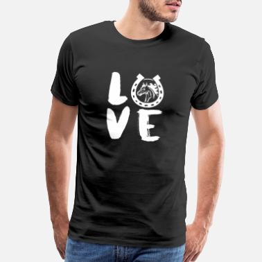 Slide Stop Love Horse - Men's Premium T-Shirt
