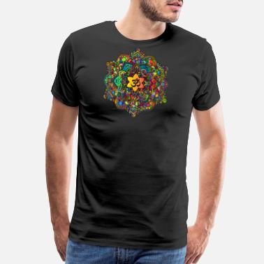 Om Symbol Buddhism Colorful Om Mandala - Men's Premium T-Shirt