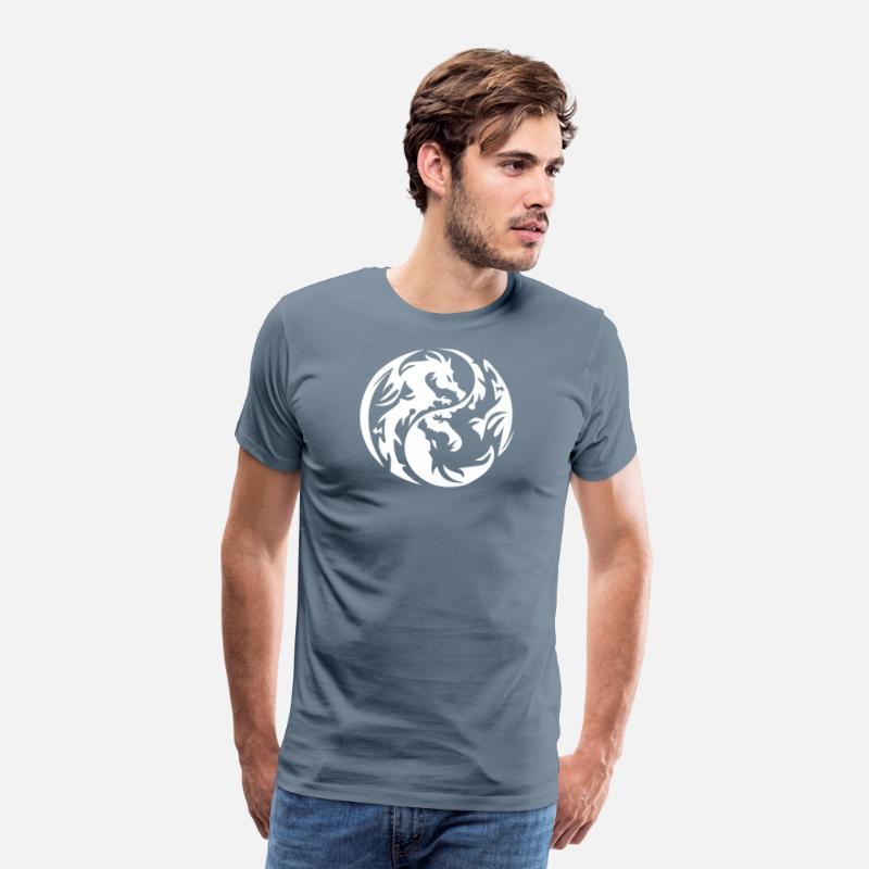 260f980e1b0e8 new design Yin Yang tribal dragon best seller Men's Premium T-Shirt    Spreadshirt
