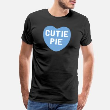 Cutie Cutie Pie Blue Candy Heart - Men's Premium T-Shirt