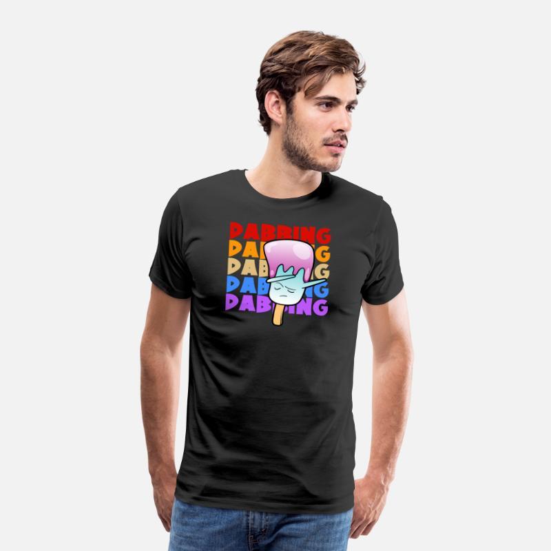 683921315aef Men s Premium T-ShirtRetro Vintage Pop Art Style Dabbing Dab Ice cream
