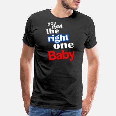 Baby Sayings vintage baby say - Men's Premium T-Shirt