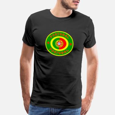 Portugal Fan Portugal circle with national flag gift Lisbon - Men's Premium T-Shirt