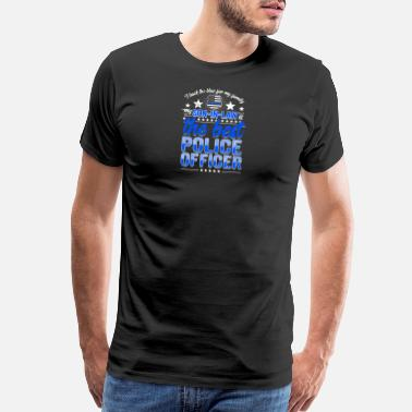 Son In Law Best Police Officer Son-In-Law Cop Thin Blue Line - Men's Premium T-Shirt