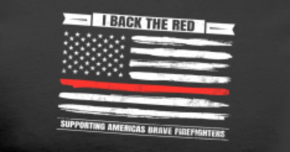 82eed26a7a6b61 Thin Red Line Brave Firefighter Support Men's Premium T-Shirt | Spreadshirt