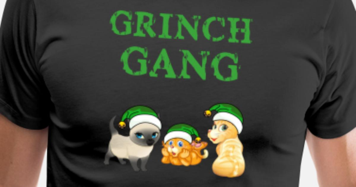 Grinch Christmas Sweater.Meowy Cat Grinch Gang Ugly Christmas Sweater Men S Premium T Shirt Spreadshirt