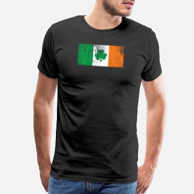 Retro Irish Irish Flag Retro - Men's Premium T-Shirt