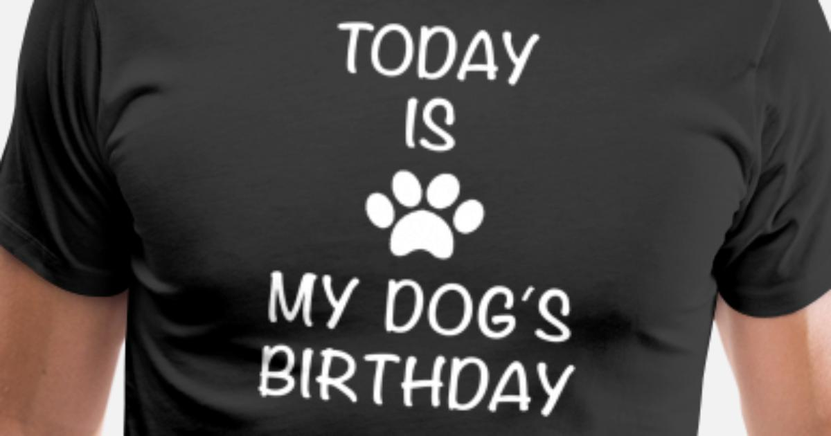 Today Is My Dogs Birthday Shirt Mens Premium T